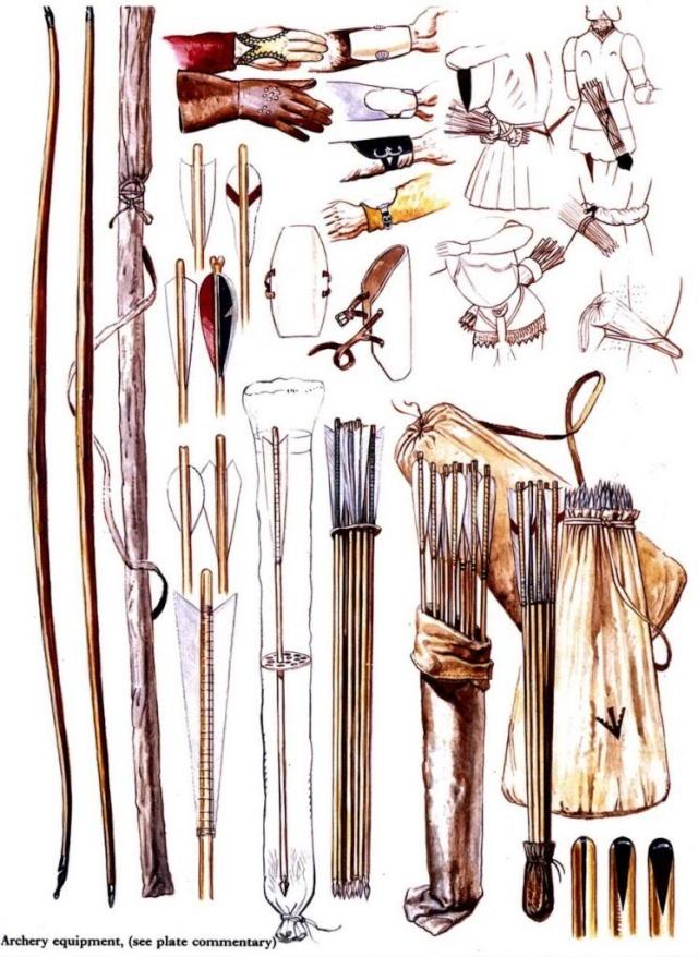 planche archerie (gant, carquoi, arc, palette..) Englis10