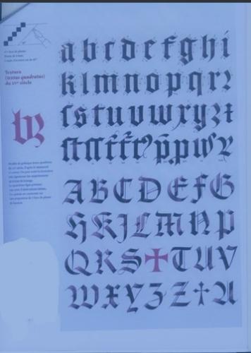 alphabet du 15eme siecle Textex10