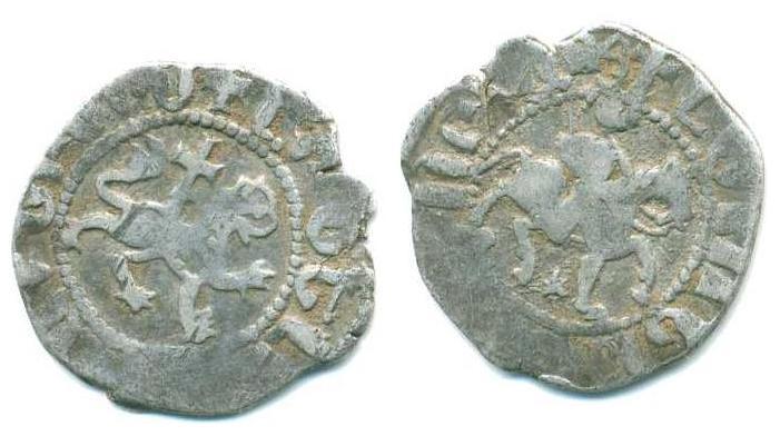 Dinero del Reino de Armenia, Levon III (1301-1308 d.C.) Anv120