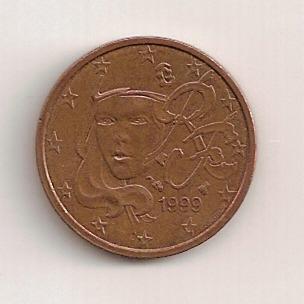 2 Céntimos de Francia del 1999 Rev13