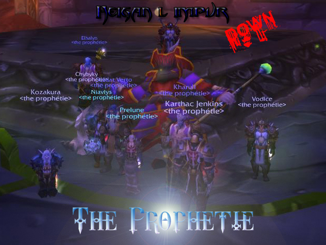 Forum de la guilde The Prophetie - Portail* Heigan11