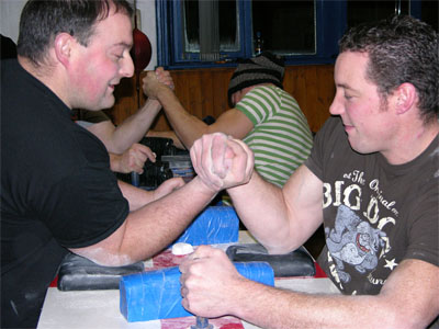 Nick Hall and Chris Murphy demonstrate the TOPROLL technique. 220dec11