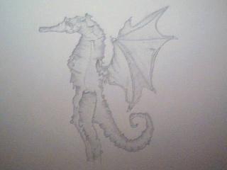 Strange Monster Drawing 2009-011