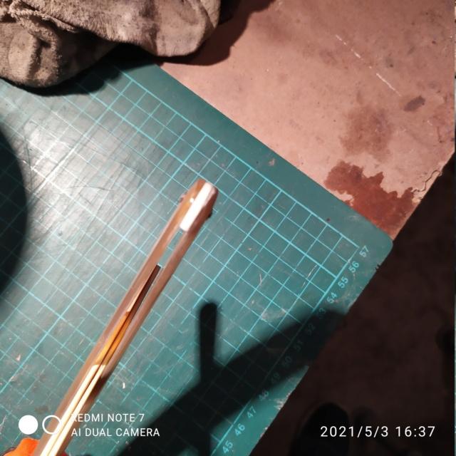 Châsse en corne blonde bombée - FINI Img_2081