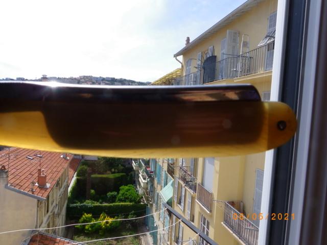 Châsse en corne blonde bombée - FINI Imgp0169
