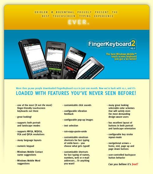 FingerKeyboard v2.1 / Skins de RR33 - Clavier Wvga Fkbd2110