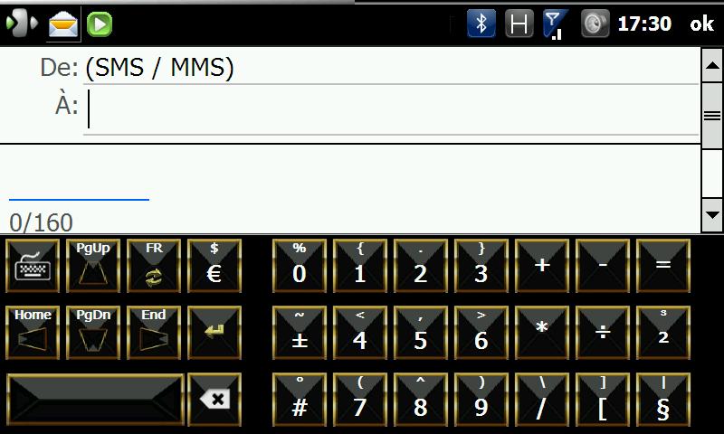 FingerKeyboard v2.1 / Skins de RR33 - Clavier Wvga Screen90