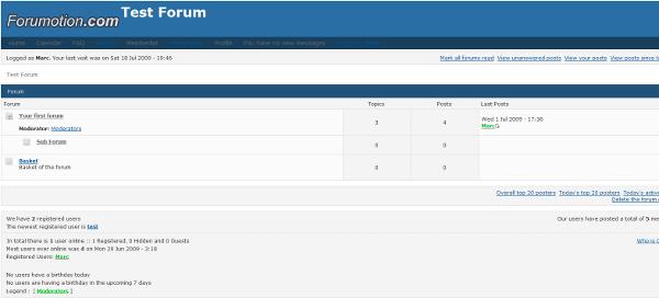 Forum versions  Punbb10