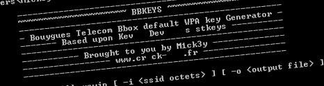 Faille de sécurité sérieuse pour la Bbox en WPA 12535311