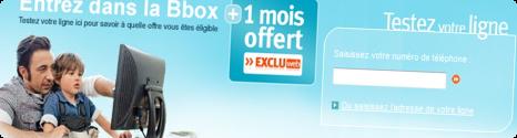 1 mois offert pour un abonnement Bbox 12555410