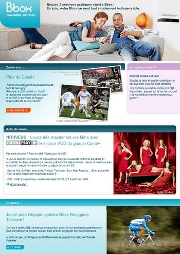 JUIN 2009: 3 Nouveaux service signés BBOX. Newsle10
