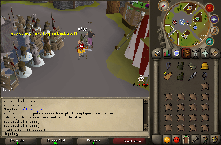i mag3 you pking with sord! Javaow13
