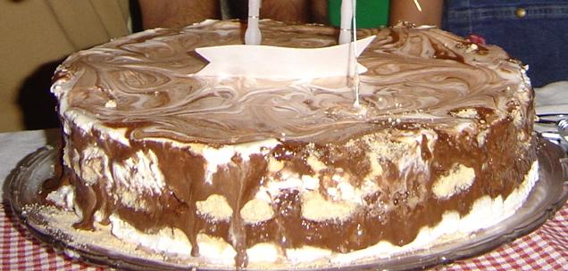 Bolo Gelado de Chocolate e Natas Dsc02010