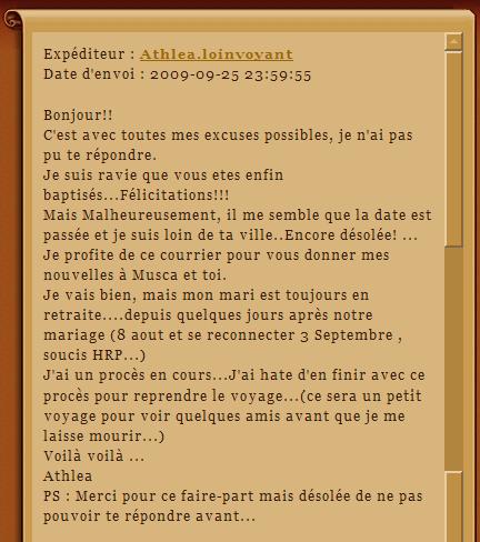 Les réponses aux invitations Rapons11