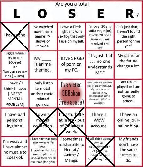 LOSER Bingo Loserg10