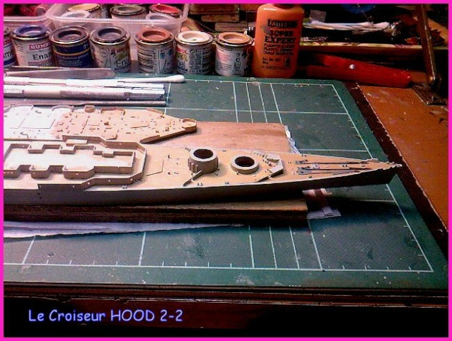 CONSTRUCTION DE LA MAQUETTE DU HOOD 1941 au 700 TRUMPETER Hood-212