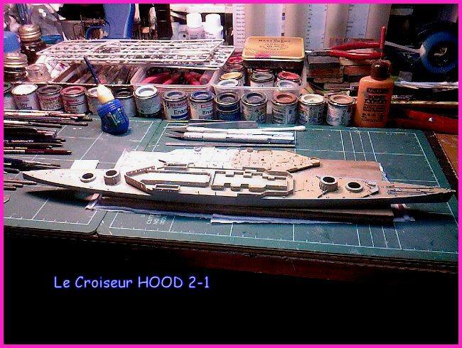 CONSTRUCTION DE LA MAQUETTE DU HOOD 1941 au 700 TRUMPETER Hood-213
