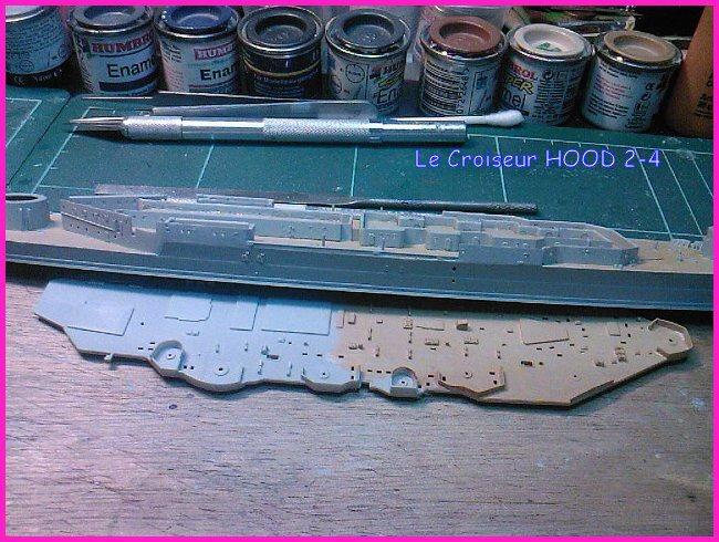CONSTRUCTION DE LA MAQUETTE DU HOOD 1941 au 700 TRUMPETER Hood-215