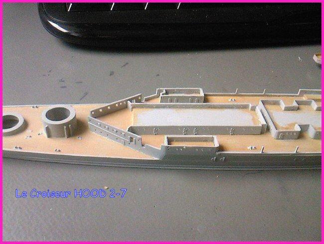 CONSTRUCTION DE LA MAQUETTE DU HOOD 1941 au 700 TRUMPETER Hood-218