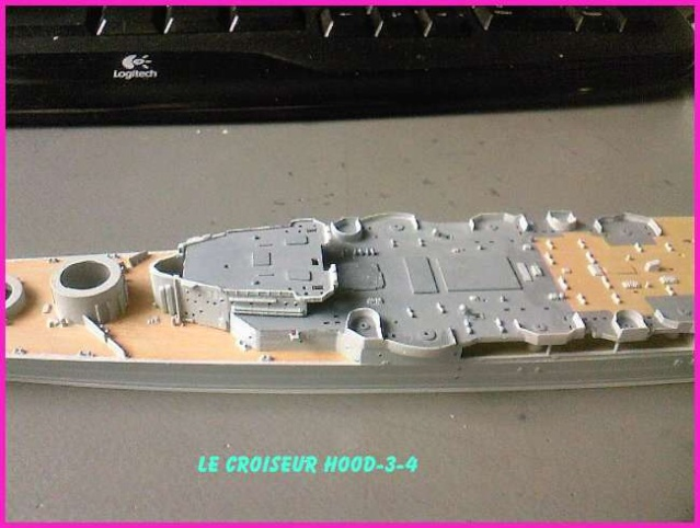CONSTRUCTION DE LA MAQUETTE DU HOOD 1941 au 700 TRUMPETER Hood-313