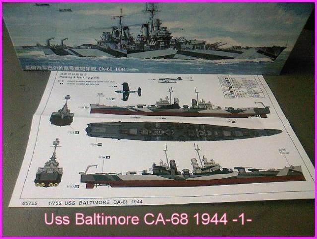 LE USS BALTIMORE CA-68 DE CHEZ TROMPETER AU 700 Ussbal10