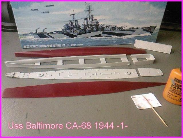 LE USS BALTIMORE CA-68 DE CHEZ TROMPETER AU 700 Ussbal11