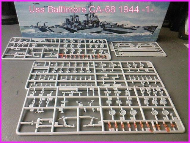 LE USS BALTIMORE CA-68 DE CHEZ TROMPETER AU 700 Ussbal13