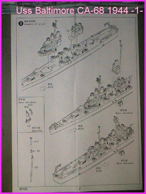 LE USS BALTIMORE CA-68 DE CHEZ TROMPETER AU 700 Ussbal16