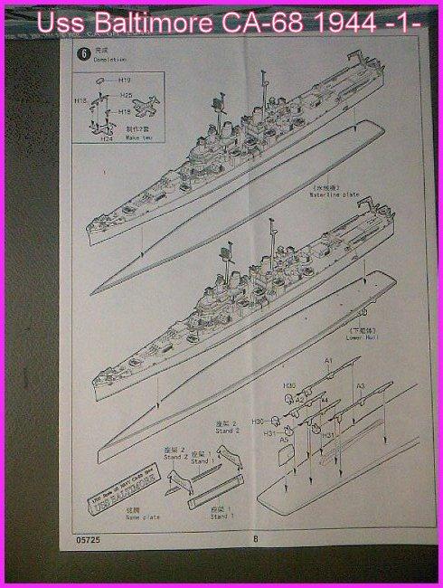 LE USS BALTIMORE CA-68 DE CHEZ TROMPETER AU 700 Ussbal17