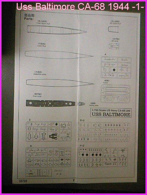 LE USS BALTIMORE CA-68 DE CHEZ TROMPETER AU 700 Ussbal21