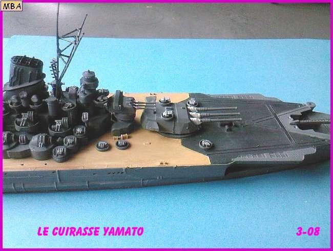CONSTRUCTION DE LA MAQUETTE DU YAMATO AU 700 TAMIYA Yamato26