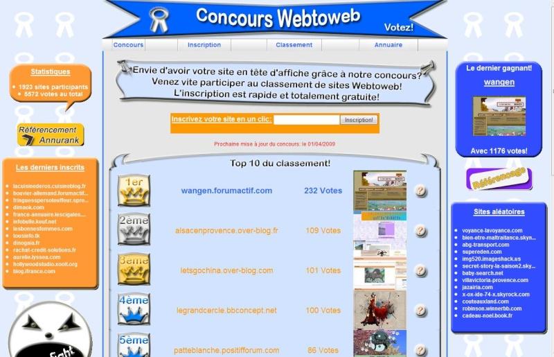 Il était une fois Wangen:1er au classement Webtoweb ! Webtow10