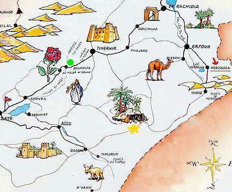 Premier festival culturel et touristique de Merzouga Carte_10