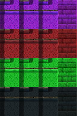 Auto-tile de rivière (ville) RTP de plusieurs couleurs Tilea110