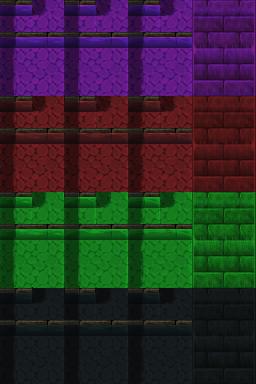 Auto-tile de rivière (ville) RTP de plusieurs couleurs Tilea111