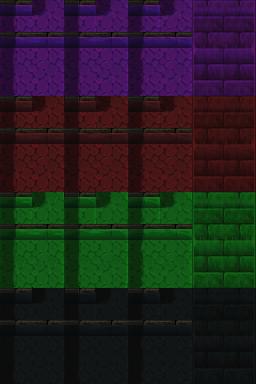 Auto-tile de rivière (ville) RTP de plusieurs couleurs Tilea112