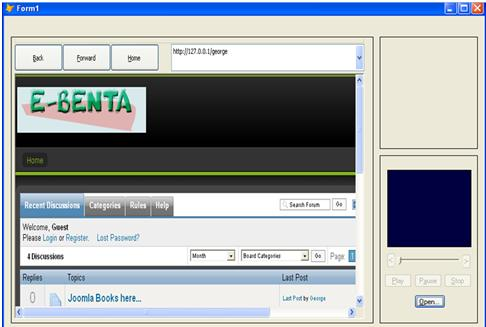 Portable Web Browser with Media Player Using Visual Fox Pro 9 Untitl11