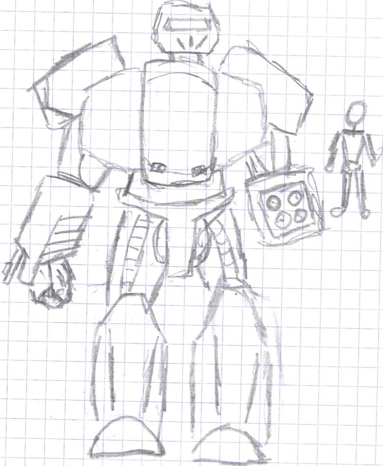 chara d'un soldat futuriste Mech0010