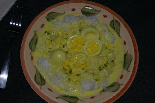 Oeufs à la sauce de lait de coco Curry_10