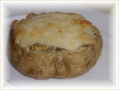 Patates au four, farcies aux champignons Patate14