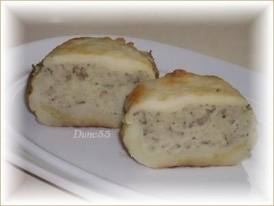 Patates au four, farcies aux champignons Patate15