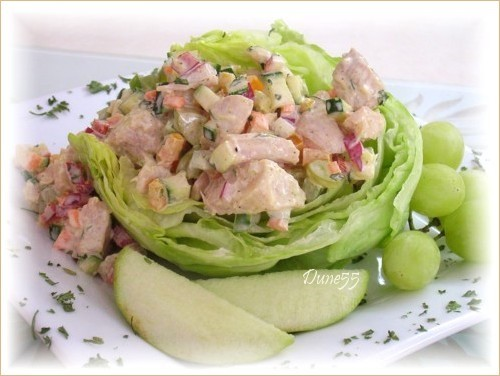 Salade de poulet au Cari Pict0079