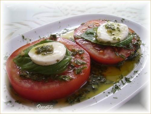 Vinaigrette Huile d'olive et basilic Pict0099