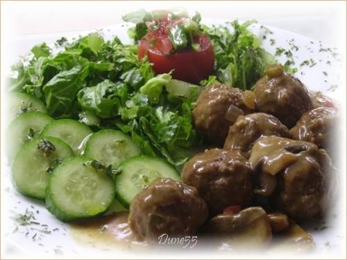 Boulettes sauce moutarde Pict4514