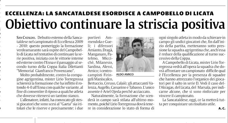Campionato 1° giornata:Campobello di Licata-Sancataldese 0-0 112
