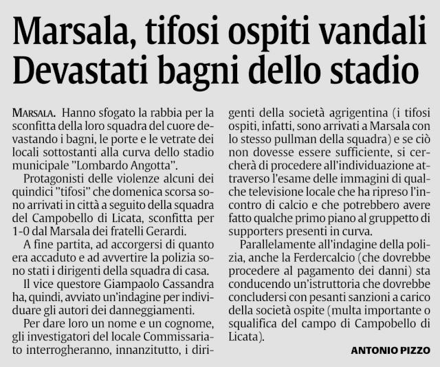 Brutto episodio nel dopogara Marsala asd-Campobello di licat Gdrg11