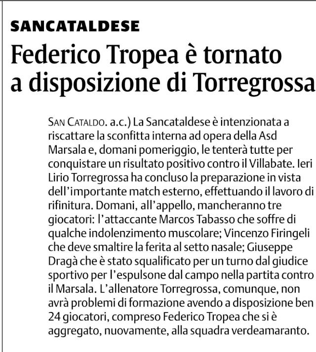 Campionato 3° giornata: Villabate - Sancataldese 2-0 Trhrh11