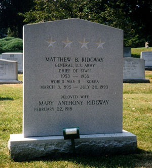"Le General Matthew""Bunker"" RIDGWAY Rid410"