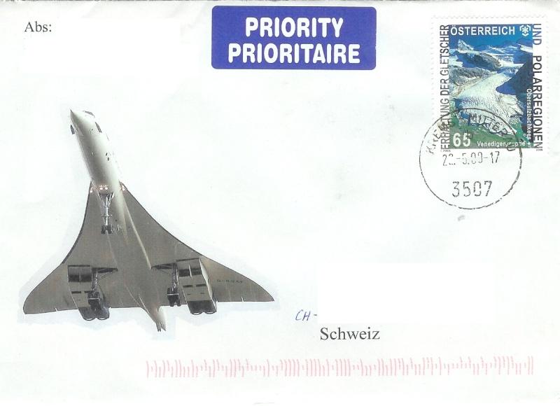 Concorde Post aus Österreich 1610