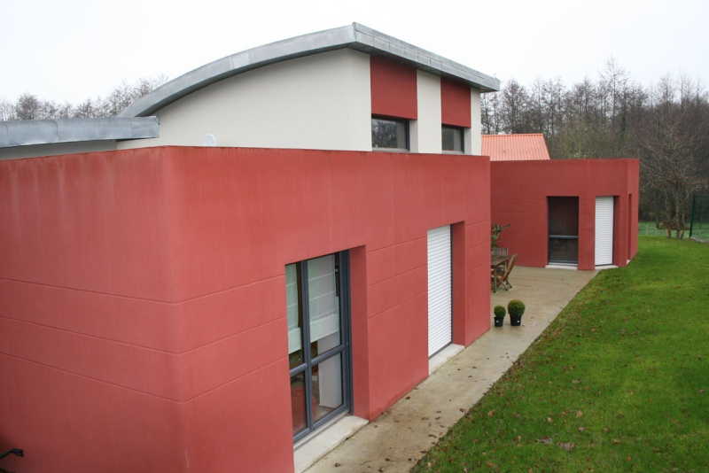 Entrée extéreiure maison contemporaine Mamais15